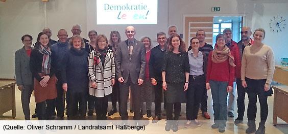 Der Begleitausschuss der Partnerschaft für Demokratie im Landkreis Haßberge bei seiner Sitzung am 20.02.2020 (Quelle: Oliver Schramm/Landratsamt Haßberge)