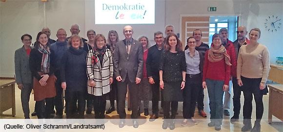 Begleitausschuss Demokratie leben! im Landkreis Haßberge (Foto: Oliver Schramm/Landratsamt)