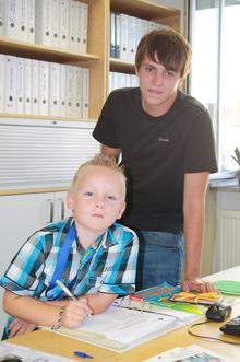 Bildungspate Andreas Heinrich mit David Becker