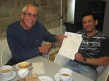 Martin Schulze-Roebbecke mit Mohammed El Bouhyanonie