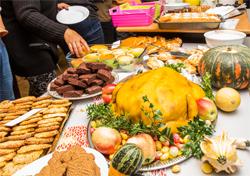 Ein Marzipantruthahnkuchen darf beim Thanksgiving natürlich nicht fehlen (Foto: René Ruprecht)