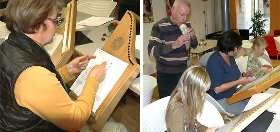 Das Musizieren mit der Veeh-Harfe ist für Groß und Klein leicht zu erlernen
