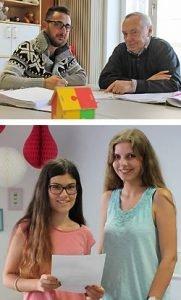Bestandene Abschlussprüfungen: Mohannad Batha - Tanja Welther (mit ihren MGH-Bildungspaten)