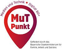 """MuT ist ein Akronym für """"Medien und Technik"""" und soll gleichzeitig die Offenheit ausdrücken, auch im höheren Alter noch neue Kompetenzen zum Umgang mit digitalen Medien zu erlernen. MuT-Punkte sollen als gemeinsame Dachmarke für Anlaufstellen mit entsprechenden Angeboten etabliert werden."""