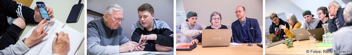 """Lernen durch Engagement: Schülerinnen und Schüler der Heinrich-Thein-Schule Haßfurt im MGH-Projekt """"m-IT-einander digital"""""""