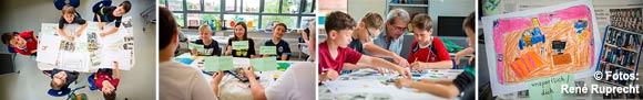 """Lernen durch Engagement: Schülerinnen und Schüler der Grundschule Ebern im MGH-Projekt """"MAL-alt-werden"""""""