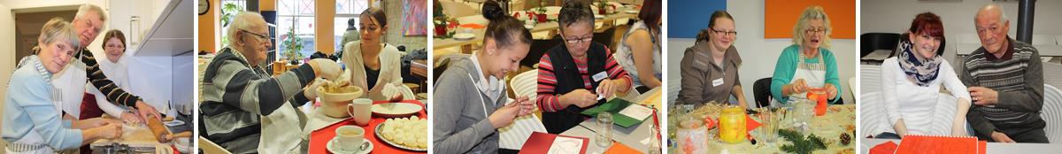 """Lernen durch Engagement: Schülerinnen und Schüler der Heinrich-Thein-Schule Haßfurt im MGH-Projekt """"Alzheimer & You – Zeig dein Engagement: Weihnachtswerkstatt und mehr"""""""