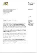 Link zum Download: Glückwunschschreiben der Landtagspräsidentin Ilse Aigner (PDF)
