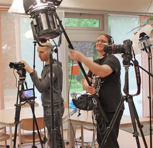 Film-Team im MGH