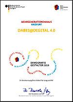 Urkunde: DemografieGestaler 2019 - DABEI@DIGITAL4.0