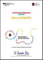 Urkunde: DemografieGestaler 2019 - RentenSCHMIEDE