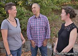 Beim MGH-Expertentreffen: Steffi Wohlleben, Dr. Arman Behdjati-Lindner und Dorothea Rothmann (Foto: René Ruprecht)